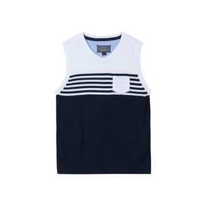 Pull sans manches rayures marines