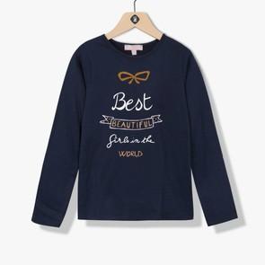 T-shirt fille texte imprimé