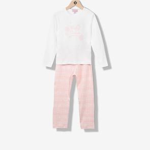 Pyjama fille jersey rose pâle