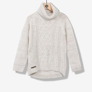 Tunique tricot écru