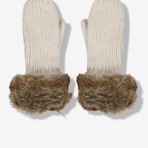 Moufles tricot et fourrure