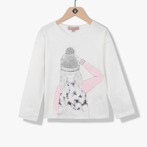 T-shirt fille avec visuel