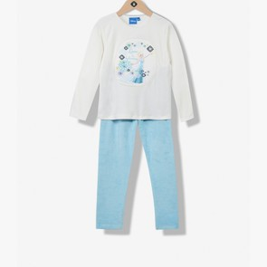 Pyjama fille velours Reine des Neiges