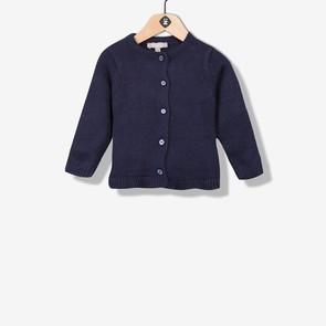 Cardigan tricot bleu marine