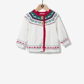 Cardigan tricot jacquard éthnique