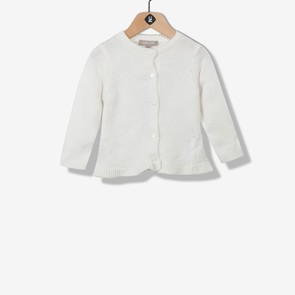 Cardigan tricot écru