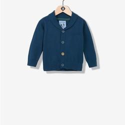 Gilet tricot col châle