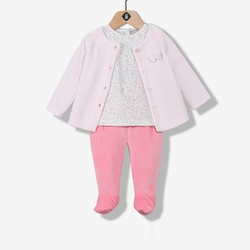 Ensemble bébé fille rose
