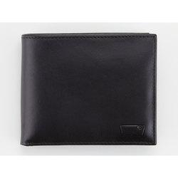 Black Inlay Bi-Fold Leather