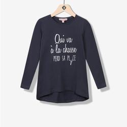 Maxi t-shirt à texte marine