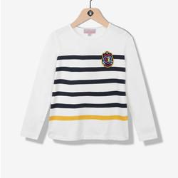 T-shirt fille esprit marinière