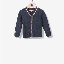 Cardigan garçon tricot chiné