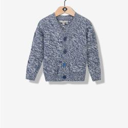 Gilet garçon tricot gris chiné