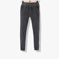 Pantalon confort velours gris