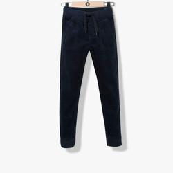 Pantalon confort velours bleu navy
