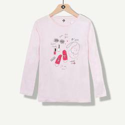 Maxi t-shirt fille rose