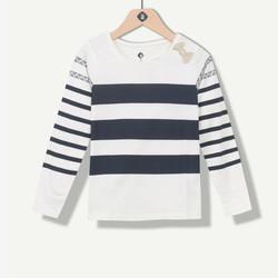 T-shirt fille marinière