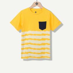 T-shirt garçon jaune avec poche