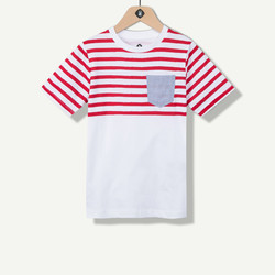 T-shirt garçon rouge avec poche