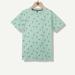 T-shirt garçon avec poche verte