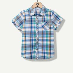 Chemise à carreaux tissés