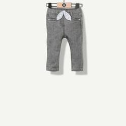 Jeans fille gris