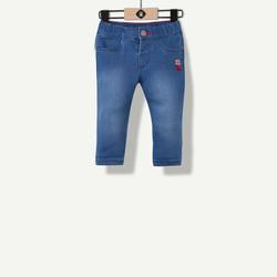 Jeans fille brut indigo