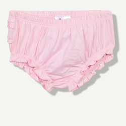 Culotte unie en coton rose