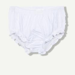 Culotte unie en coton blanche