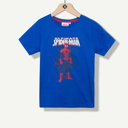 T-shirt garçon Spiderman bleu