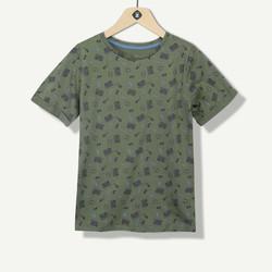 T-shirt garçon imprimé musical kaki