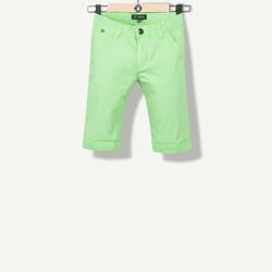 Bermuda garçon canvas vert fluo