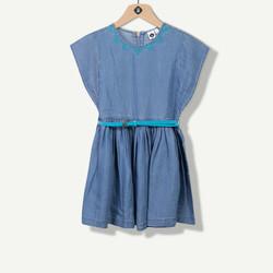 Robe chambray bleu ciel