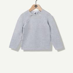 Brassière tricot gris clair