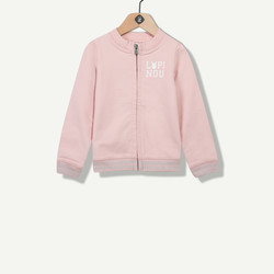 Cardigan molleton rose