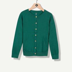 Cardigan vert avec coudières