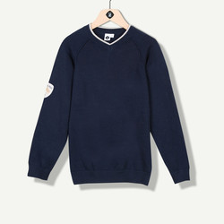Pull tricot fin marine