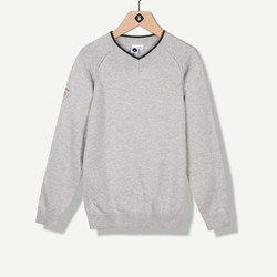 Pull tricot fin gris chiné