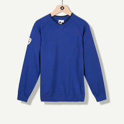 Pull tricot fin bleu roi