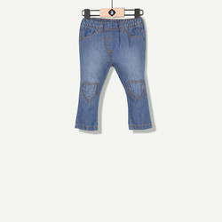 Jeans forme carotte bleu ciel