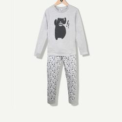 Pyjama gris chiné petit monstre