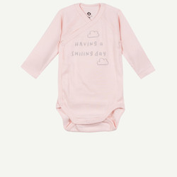 Body naissance rose manches longues
