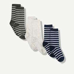 Lot de 3 paires de chaussettes à rayures