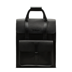 Leather Backpack BLACK PEBBLE