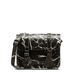 "7"" Marble Leather Satchel"