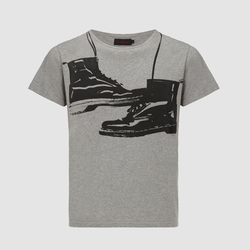UNI.BOOT T-SHIRT-ASIAN FIT/GREY MARL/CTTN