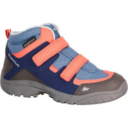 Arpenaz 100 Children's Mid Waterproof Hiking Laced Shoes - Coral