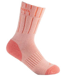 2 Pairs of Arpenaz Warm Winter Hiking Socks - Coral