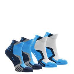 2 pairs of medium length children crossocks hiking socks in beige