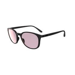 Walking 600 Round Polarized Fitness Walking Sunglasses Cat3 - Black